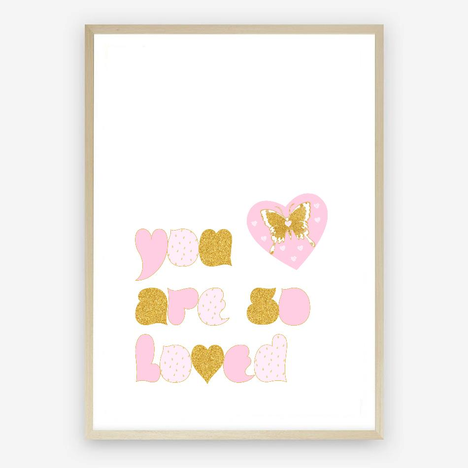 You Are So Loved Digital Nursery Print