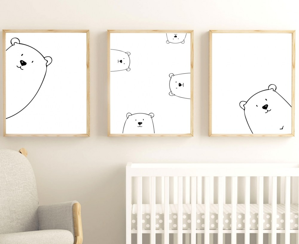 Peek A Boo Nursery Print Set Instant Digital Download by Kangaroo Kids Designs