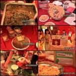 Makanan dari berbagai negara yang gratis untuk dinikmati di UNS Cultural Night 2012