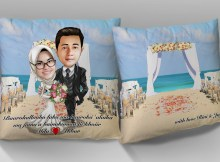 Bantal Karikatur Couple
