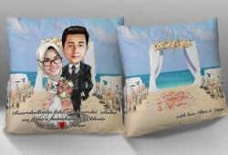 Galeri Bantal Karikatur Tema Pernikahan dan Anniversary