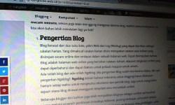 Pengertian Blog, Jenis dan Manfaat Blog