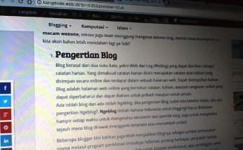 Pengertian Blog