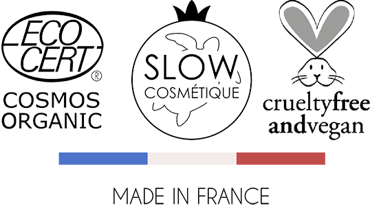 eco certifié, cosmos organic, slow cosmétique, cruelty free and vegan, made in france