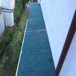浴室・脱衣場の壁面建込と屋根