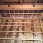 増築浴室部分の柱撤去と梁補強