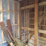 浴室増築部の旧壁面解体