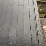 リビング南側の屋根仕舞と玄関エントランス縁石