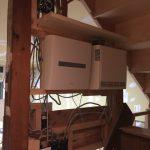 階段室電気系統の仕込