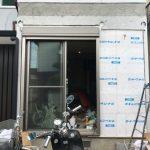屋根復旧と北外壁のモルタル塗り