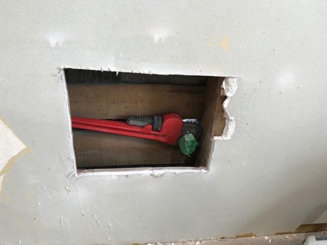 ガス管撤去