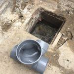 会所の撤去と雑排水管の配管