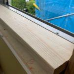 サッシ窓枠の造作(額縁)