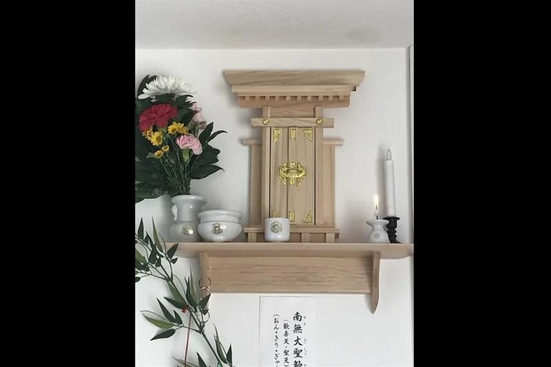 ちょびめぃ様の聖天様の神棚(お宮)
