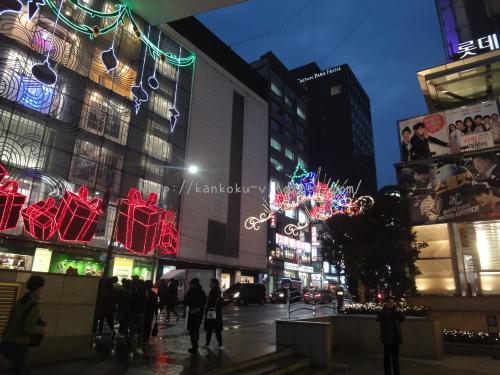 2016年韓国ソウルロッテのクリスマスイルミネーション08