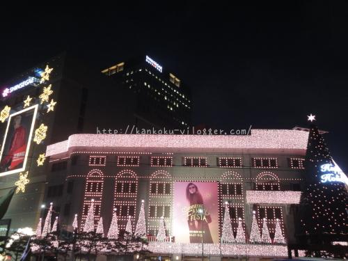 2016年新世界百貨店のクリスマスイルミネーション2