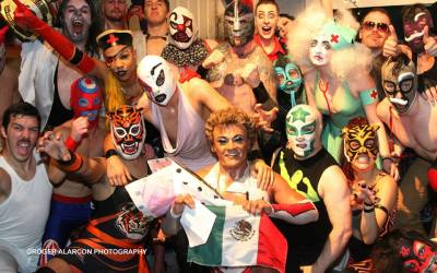 Kankun Luchador was a special guest at Lucha Britannia