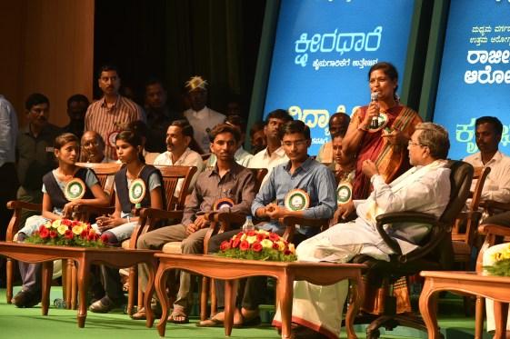 vishalakshi speaking with CM
