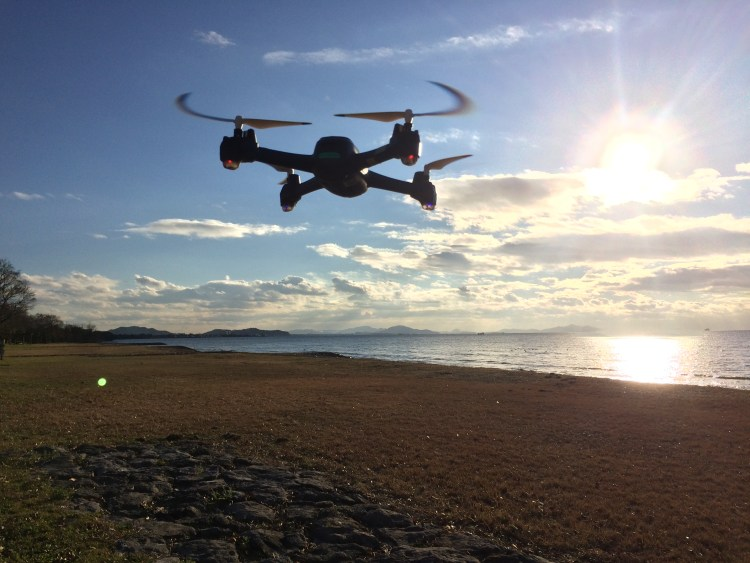 200g以下トイドローンで空撮練習 ドローン空撮滋賀