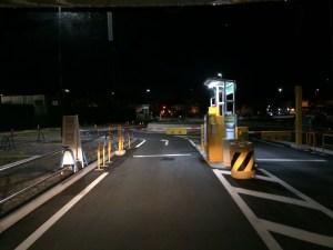 長浜豊公園駐車場入り口ゲート