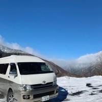 バンコンキャンピングカーで長野・白骨温泉方面にスノボ旅行 キャンピングカーレンタル滋賀