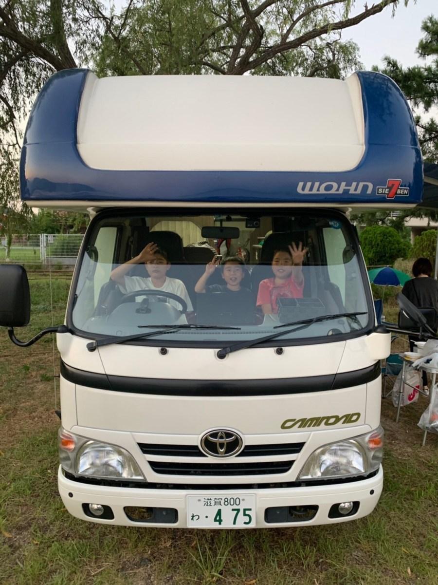 お客様からの写真♪家族旅行とキャンピングカーレンタル滋賀カノアカーレンタル 東和モータースヴォーンR2B 滋賀県長浜市