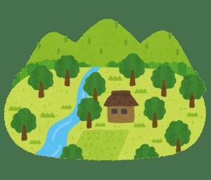 山奥、田舎の家と土地