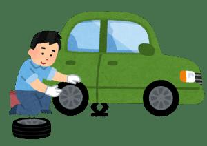 タイヤ交換 スタッドレスタイヤ