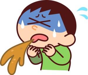 クルマの中で男の子供の嘔吐(ゲロ) シートの上やフロアカーペット カールームクリーニング滋賀京都