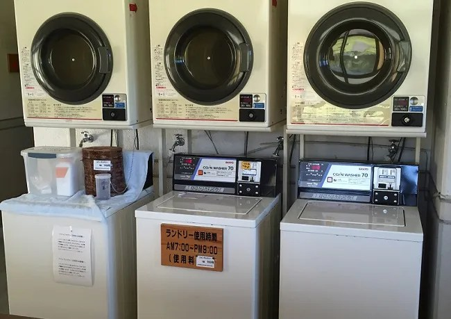 月山あさひサンチュアパークの洗濯機と乾燥機