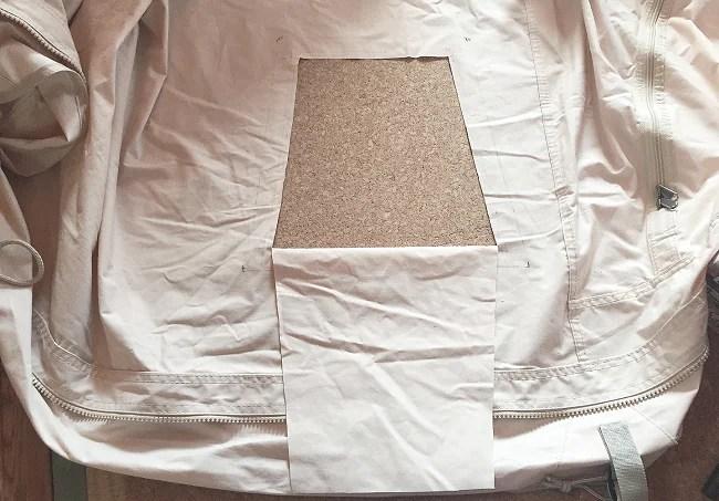ノルディスクに薪ストーブをインストールするためのテント加工