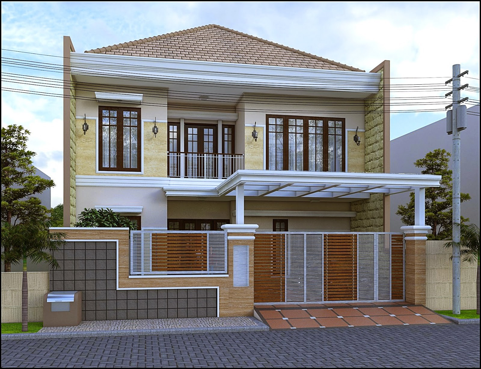 Pagar Rumah Minimalis Modern Tangerang - KANOPI BSD