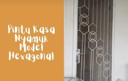 Pintu Tralis Kasa Nyamuk Model Hexagonal
