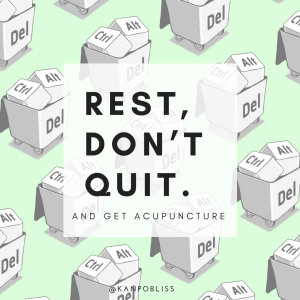 rest don't quit, sleep is your nootropics