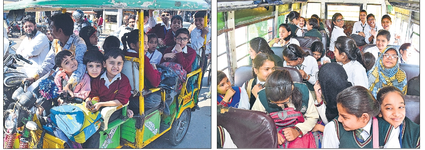 सावधान : शहर के स्कूली वाहन जानलेवा