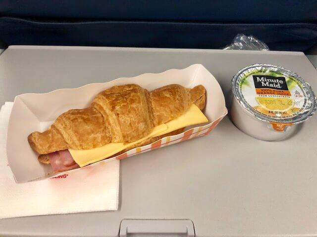 デルタ航空・機内食2