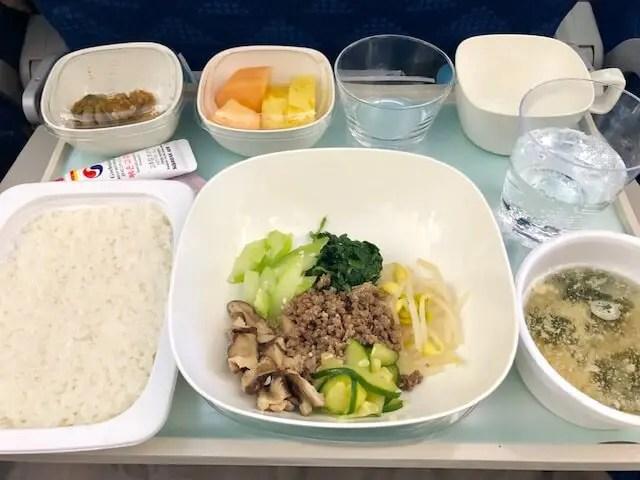 大韓航空・食事・ビビンバ