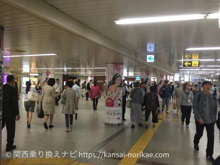 大阪難波から南海難波までの乗換案内6