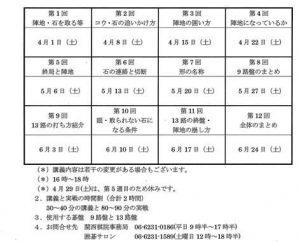 入門日程201704から