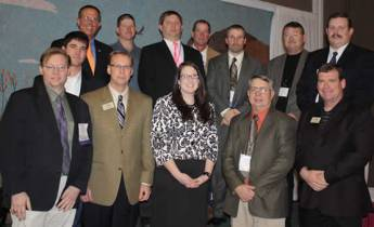 2009 directors - Back Row: KAA President, Dave Webb; Director, Eric Blomquist; Director, Dennis Wendt;Chairman of the Board Bob McBride; Vice President, Jack Newcom; President Elect, Andy Conser; Front Row: Director, Aaron McKee; Director, Byron Bina; Director, Kevin Borger; Director Megan McCurdy; Director Jim Hollinger; Director Robert Haley