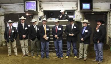 Livestock contestants: Karl Mosshart, 1st - Byron Bina, Champion - Charles Cummings, Tyler Gillum, Mike Bailey, 2nd -Cody Murray, Jason Boucher and Brandon Hamel