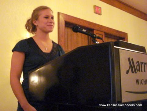 Scholarship recipient Ashley Hall
