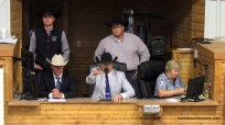 Neil Bouray competing in the 2017 Kansas Livestock Auctioneer contest