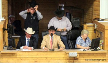 Wyatt Schumann competing in the 2017 Kansas Livestock Auctioneer contest