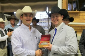 Charly Cummings with Neil Bouray the 2017 Kansas Auctioneer Champion