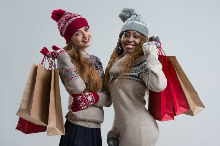 Kansas City Holiday Shopping - Two women holding shopping bags