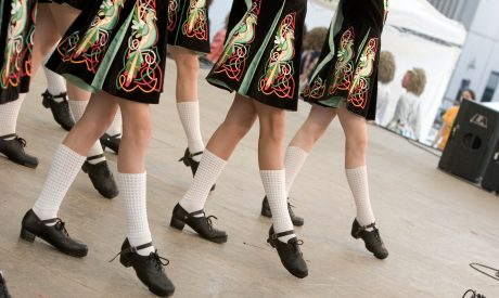 KC Irish Fest - Irish dancers in traditional dress