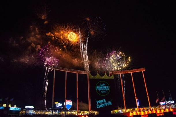Kansas City Royals Ticket Discounts - fireworks at Kauffman Stadium