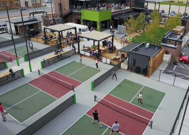 Kansas City Chicken N Pickle pickleball courtse