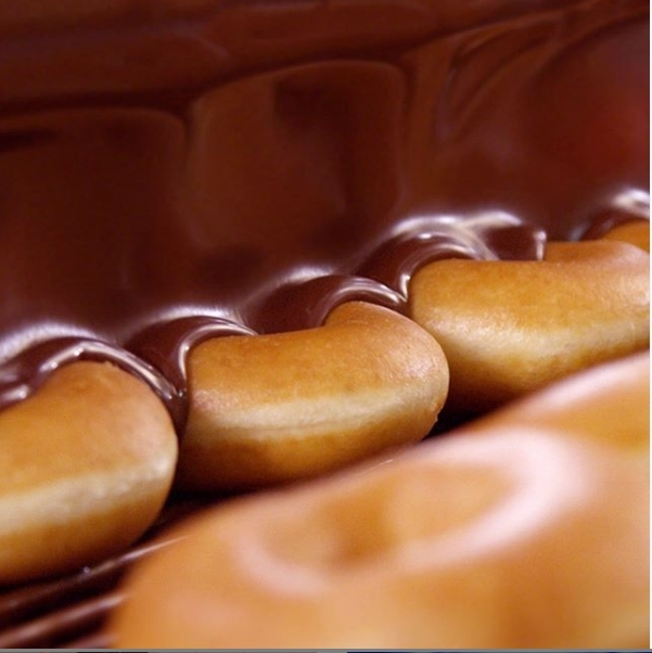 Krispy Kreme chocolate glazed donuts